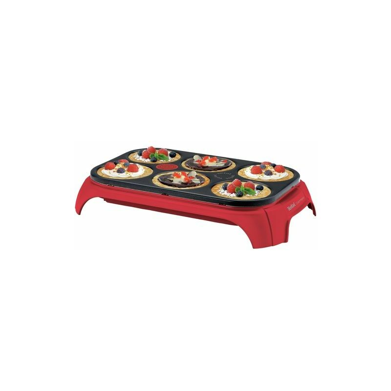 Crepiere Tefal PY559512 CREP'PARTY COLORMANIA ROUGE