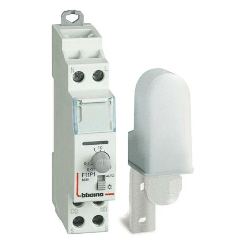 Sensori Crepuscolari Bticino.Crepuscolare Bticino Din Con Sonda Esterna 230v F11p1