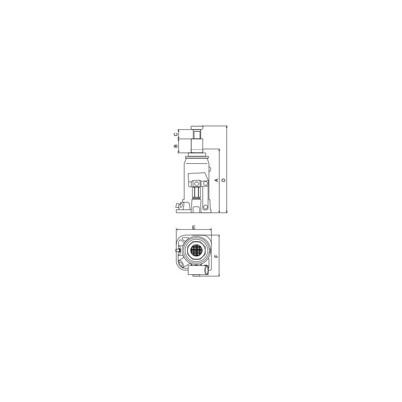 CRIC BOUTEILLE 20 TONNES 217-407MM- 52891 - Stilker