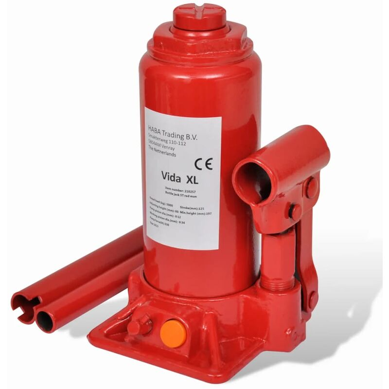 Cric hydraulique pour voitures 5 tonnes Rouge
