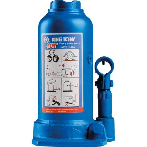Cric bouteille hydraulique à vérin 1 étage et rehausse - colonne 10T