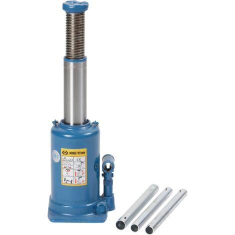 Cric bouteille hydraulique à vérin 1 étage et rehausse/ colonne 10T