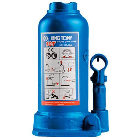 Cric bouteille hydraulique à vérin à un étage et rehausse sur colonne - 10 tonnes - -