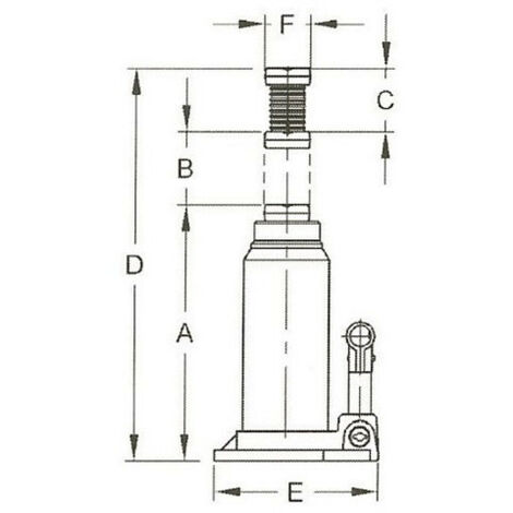 Cric bouteille hydraulique CompaC 3Tonnes Fonte -S13021