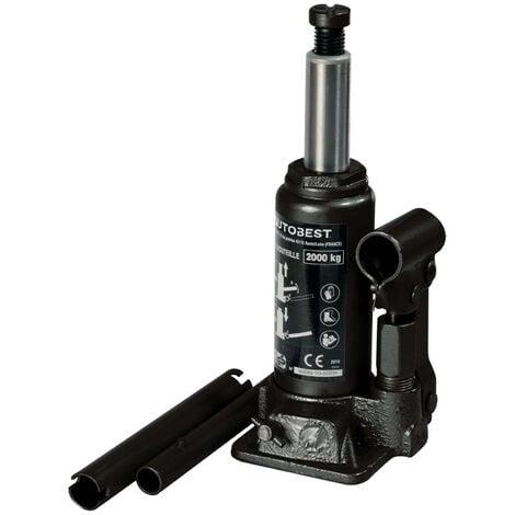 Cric hydraulique bouteille 2 Tonnes de 158 à 308 mm - AUTOBEST