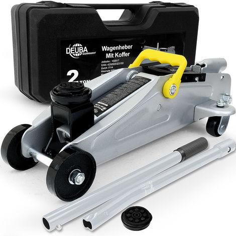 Cric hydraulique haute qualité avec valise - capacité 2 tonnes