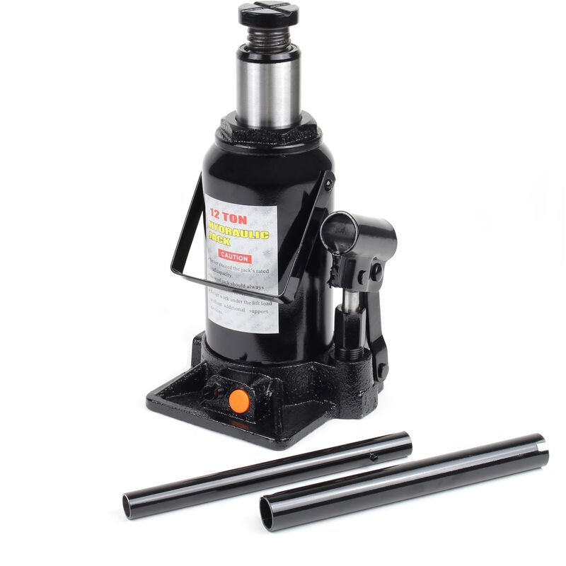 Cric bouteille hydraulique 12T Vérin de levage Voiture Véhicule Outil Garage Auto Chandelle