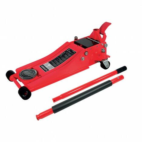Cric pro hydraulique roulant surbaisse 2 tonnes double pompe 77.4 cm