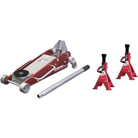 Cric rouleur 2,5T et chandelles MW-Tools CAT25SET