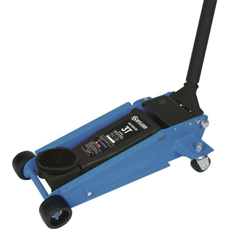 Cric rouleur 3T double piston 120/450mm longueur 595mm STILKER- S52548