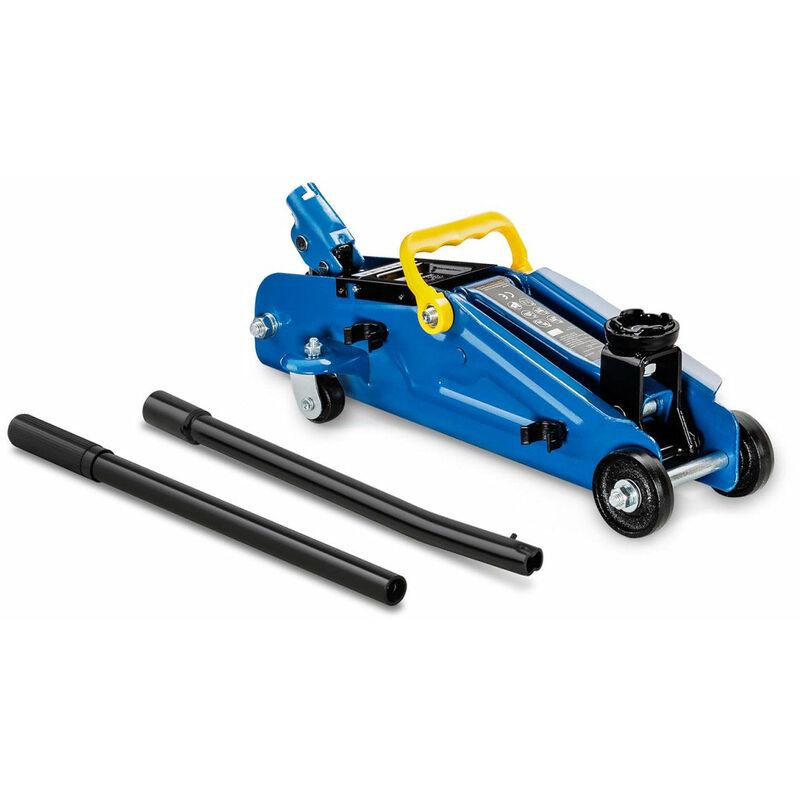 Cric rouleur hydraulique voiture mobile roulant professionnel atelier 2 000 kg - 135 à 357 mm