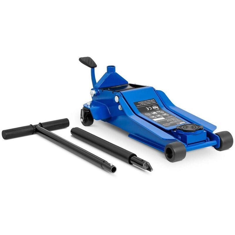 Helloshop26 - Cric rouleur hydraulique voiture mobile roulant professionnel atelier 3 000 kg - 95 à 505 mm
