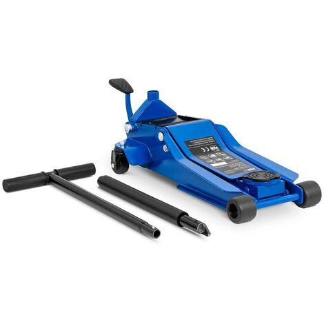 Cric rouleur hydraulique voiture mobile roulant professionnel atelier 3 000 kg - 95 à 505 mm