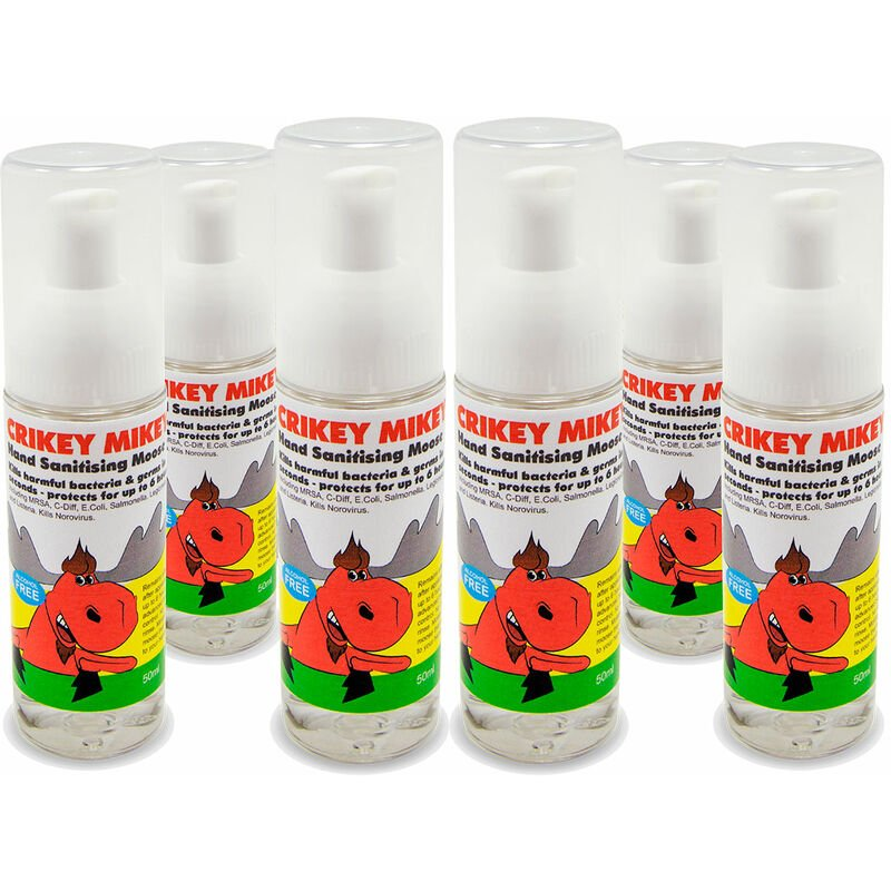 Image of Crikey Mikey Hand Sanitising Moose - Pack of 6