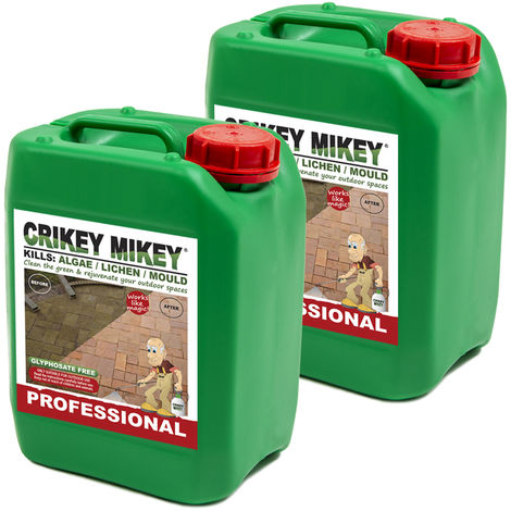 Crikey Mikey Outdoor Cleaning Wizard Professional 2 x 5L Containers