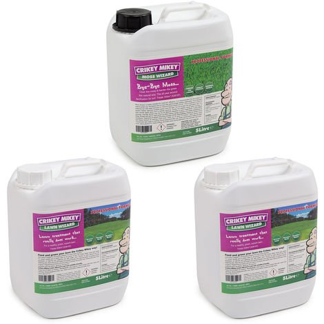 Crikey Mikey Ultimate Lawn Treatment Regime – 15L Kit