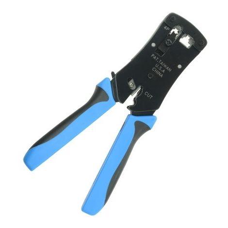 Crimpadora para conectores: RJ45, RJ11, RJ12, cable: UTP.
