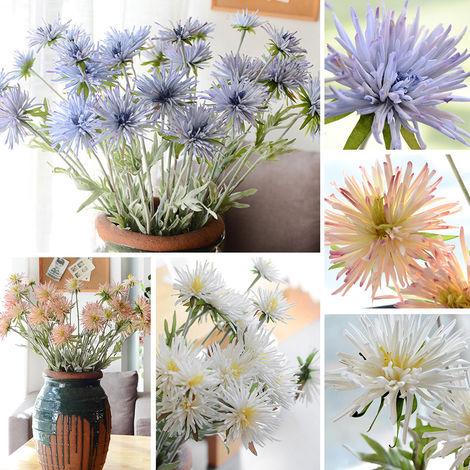 crisantemo de garra de cangrejo, planta de maceta de flores artificiales, azul