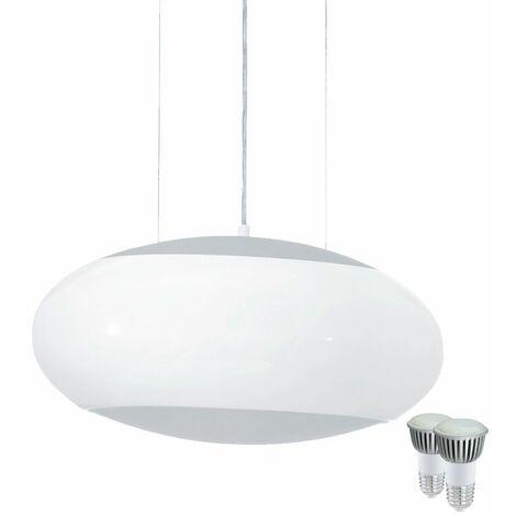Cristal bombeado arriba abajo de la lámpara de techo Habitación focos EEK A + en el conjunto, incluyendo las lámparas LED