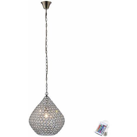 cristal colgando de techo cambio de color de la lámpara alrededor de la lámpara de techo de pasillo establecer incl. RGB lámparas LED