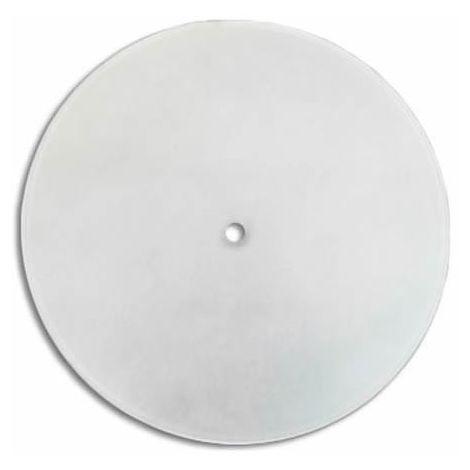 Cristal redondo curvado mate con agujero central 20 cm LB 529521