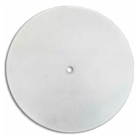 Cristal redondo curvado mate con agujero central 30 cm LB 529523