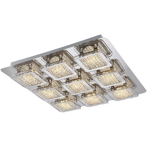 cristales acrílicos techo Lámpara de techo de iluminación de la lámpara de 45W LED claro Globo 49204-9