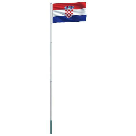 Croatia Flag and Pole Aluminium 6 m