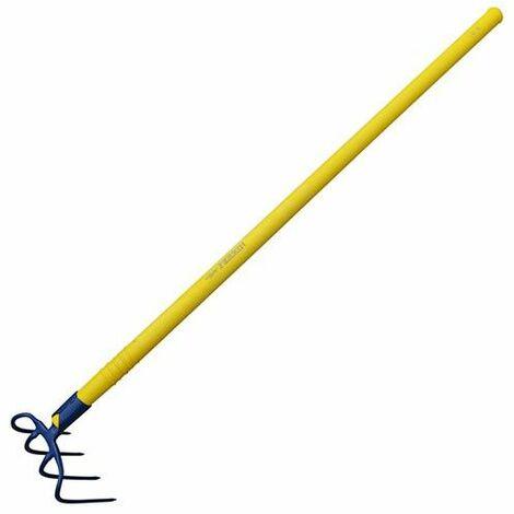 Croc à fumier à douille 4 dents 21 cm manche compo tube 115