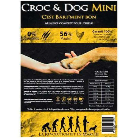 Croc & Dog Mini Poulet - Croquettes pour chiens - Contenance: 2 kg