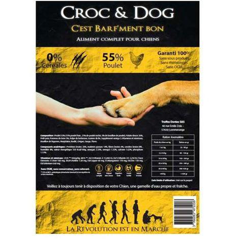 Croc & Dog Poulet - Croquettes pour chien adulte - Contenance: 6 kg