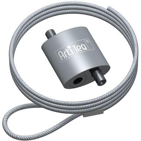 Crochet à boucle Artiteq + câble acier à boucle - 15