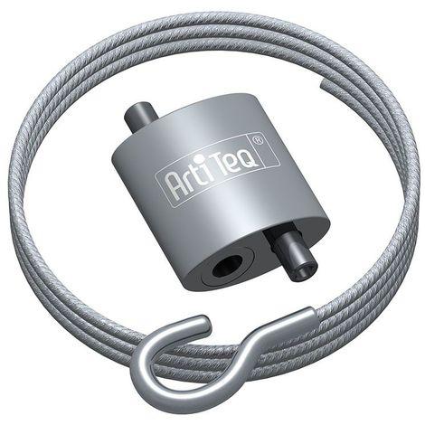 Crochet à boucle Artiteq + câble acier à crochet - 10