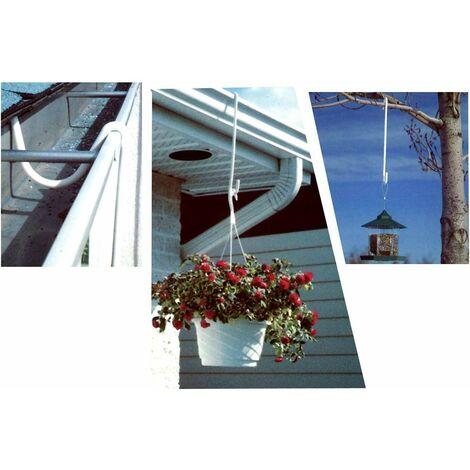 Crochet de suspension pour jardinière - Lot de 2 - Astuceo