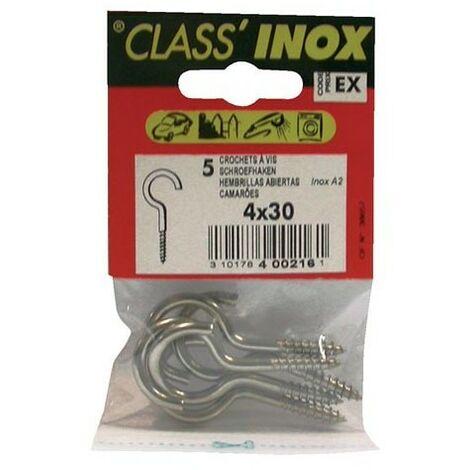 CROCHET INOX A2 30X4 SC CP:3 (Vendu par 1)