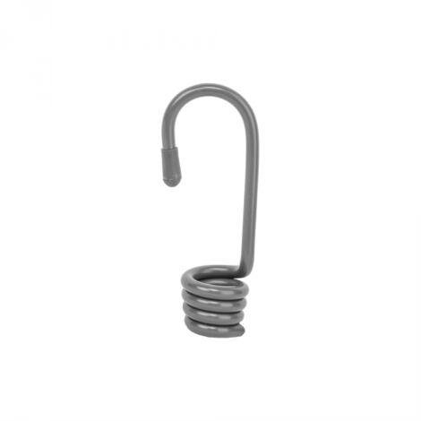 Crochet métal gris pour tendeur élastique sachet de 10 pièces