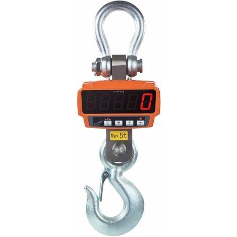 Crochet peseur industriel professionnel 5t / 1kg - avec télécommande