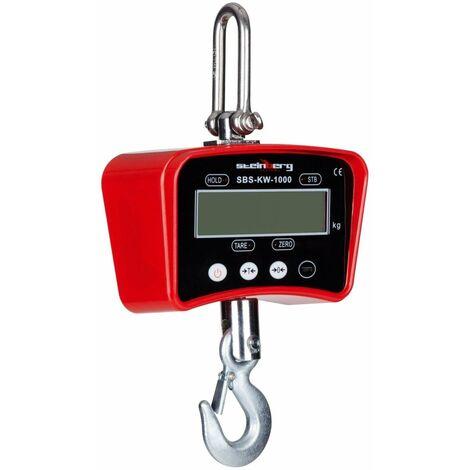 Crochet peseur industriel professionnel rouge - 1.000kg / 0.5kg