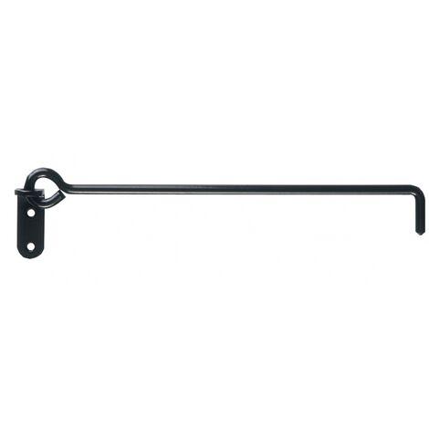 Crochet sur platine à crémaillère en aluminium Ø 8 mm longueur 400 mm livré sans crémaillère