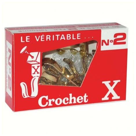 CROCHET X - Crochet X n°2 + épingles - lot de 10