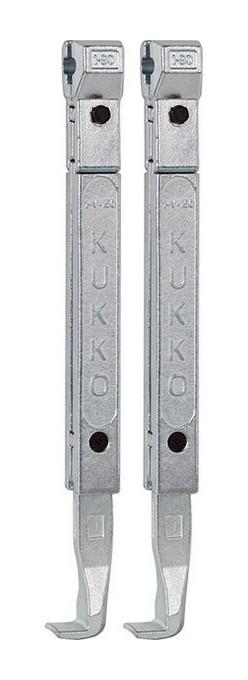 Kukko - Crochets d'extraction, Modèle : 1-190-P, Long. 200 mm, adapté à l'extracteur 20-1 20-10