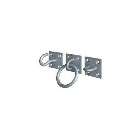 Crochets et anneaux d'ancrage - Crochet ouvert sur platine, Diamètre fil 8 mm
