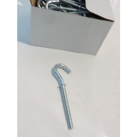 Crochets fileté 5x50mm acier zingué (boite de 100) pour suspension RAM 85055