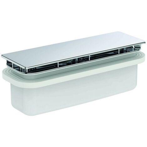 Cromado Ultraflat New Desagüe Ideal Standard para platos de ducha completo con tapa de desagüe | cromado brillante