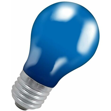 Crompton Lamps 15W GLS ES-E27 Dimmable Colourglazed IP65 Blue A60 Traditional Coloured Outdoor External Festoon Light Bulb