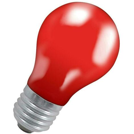Crompton Lamps 15W GLS ES-E27 Dimmable Colourglazed IP65 Red A60 Traditional Coloured Outdoor External Festoon Light Bulb