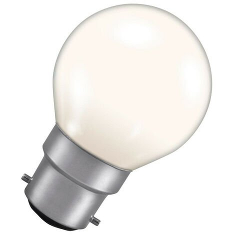 Crompton Lamps 15W Golfball B22 Dimmable Colourglazed IP65 White