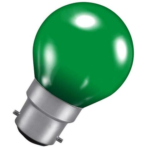 Crompton Lamps 15W Golfball BC-B22d Dimmable Colourglazed IP65 Green Round Traditional Coloured Outdoor External Festoon Light Bulb