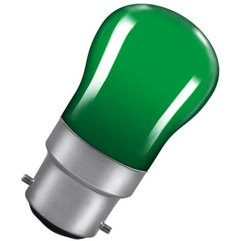 Crompton Lamps 15W Pygmy BC-B22d Dimmable Green Sign Traditional Coloured Outdoor External Festoon Light Bulb
