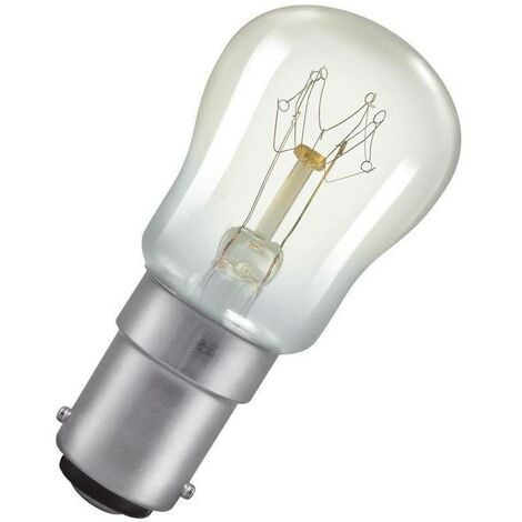 Crompton Lamps 15W Pygmy SBC-B15d Dimmable 2800K Warm White Clear 95lm Crompton Lamps Pygmy SBC Small Bayonet B15 Incandescent Sign Traditional Outdoor External Festoon Light Bulb